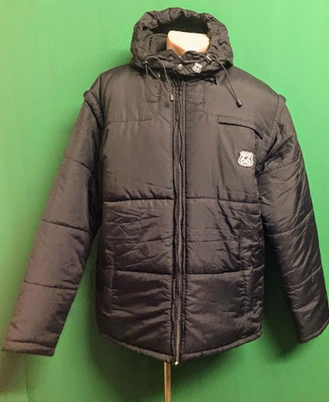 Зимняя куртка с капюшоном 2 в 1 route 66 (l/xl)