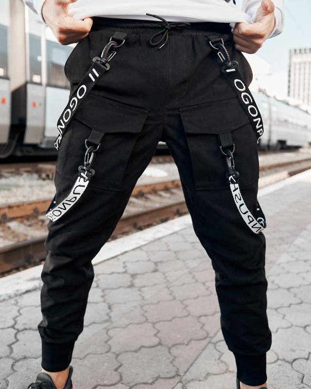 Брюки карго мужские Пушка Огонь Scarstrope черные