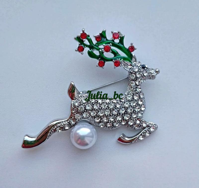 Брошь рождественский олень, смотрите больше бижутерии в моих о...