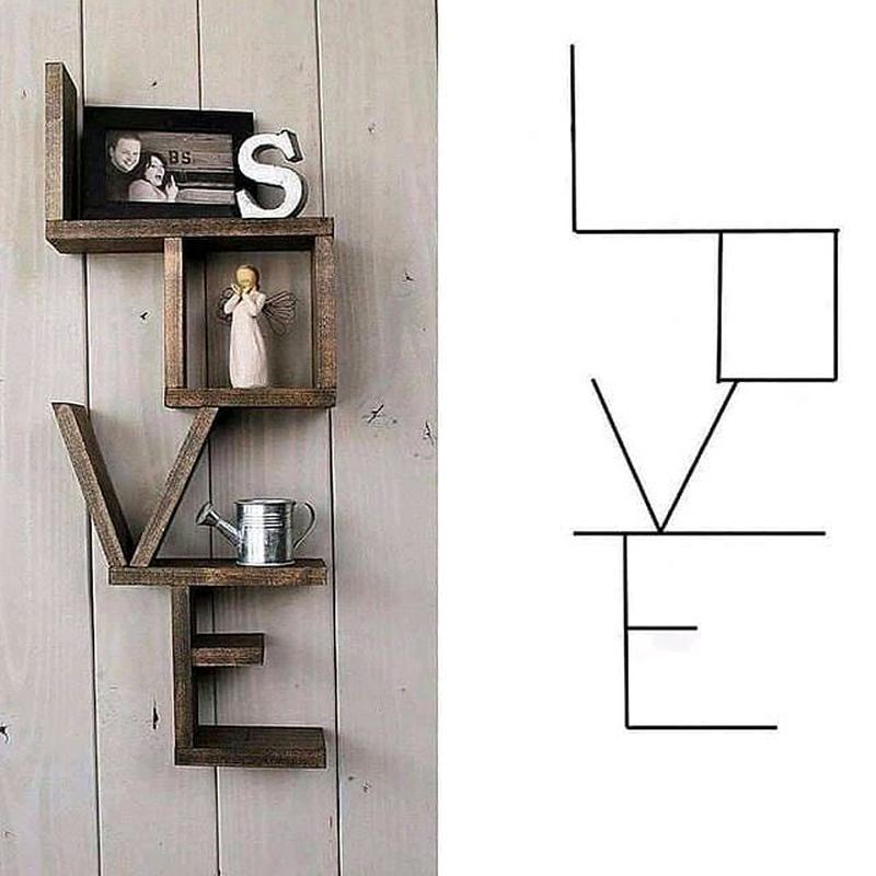 Подвесная полочка  LOVE