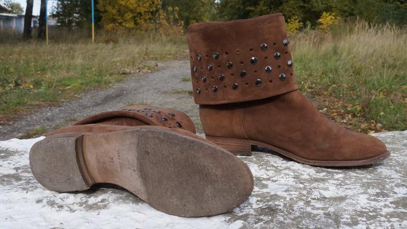 Круті стильні чоботи) натуральний замш - Фото 2