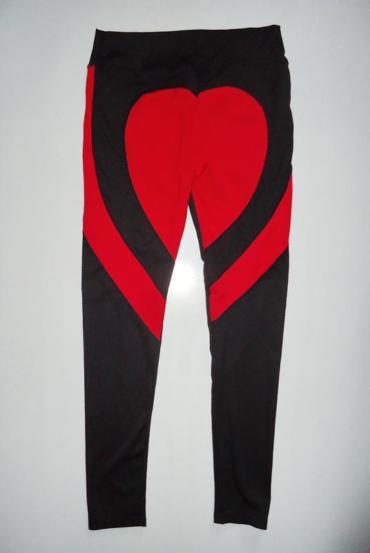 Штаны спортивные женские леггинсы лосины сердечком (l)