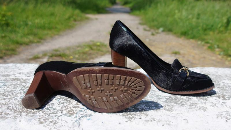 Жіночі туфлі clarks шкіра поні - Фото 5