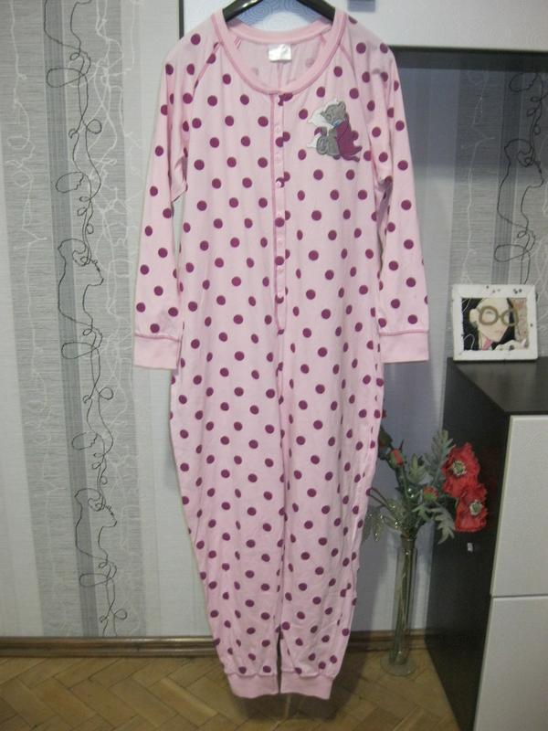Хлопковая 100 коттон пижама кигуруми мишка тедди 16-18