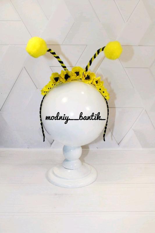 Обруч пчелка ободок к костюму пчелки пчелы