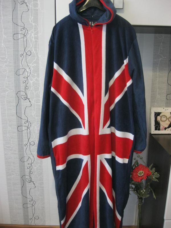 Кигуруми флаг англия пижама комбинезон лыжный костюм хл=ххл ро...