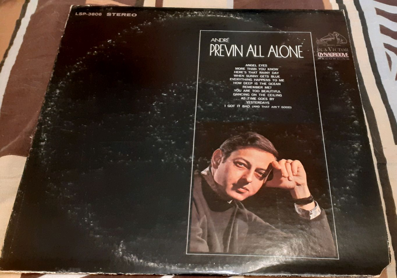 Пластинка André Previn ‎– All Alone.