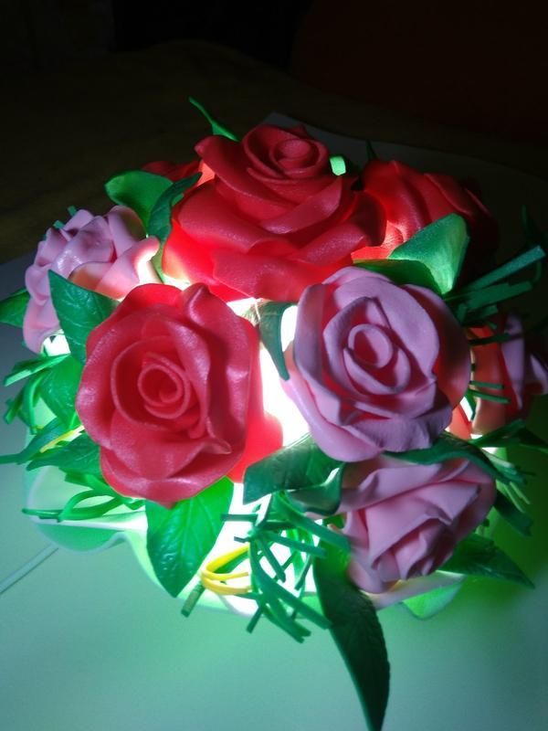Ночник - букет цветов - Фото 3