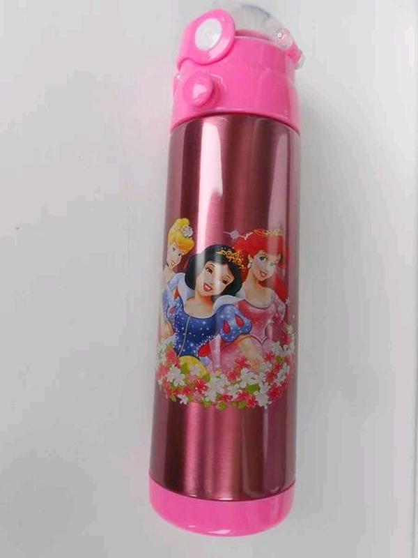 Детский термос - поилка с трубочкой 500 мл разные расцветки - Фото 4