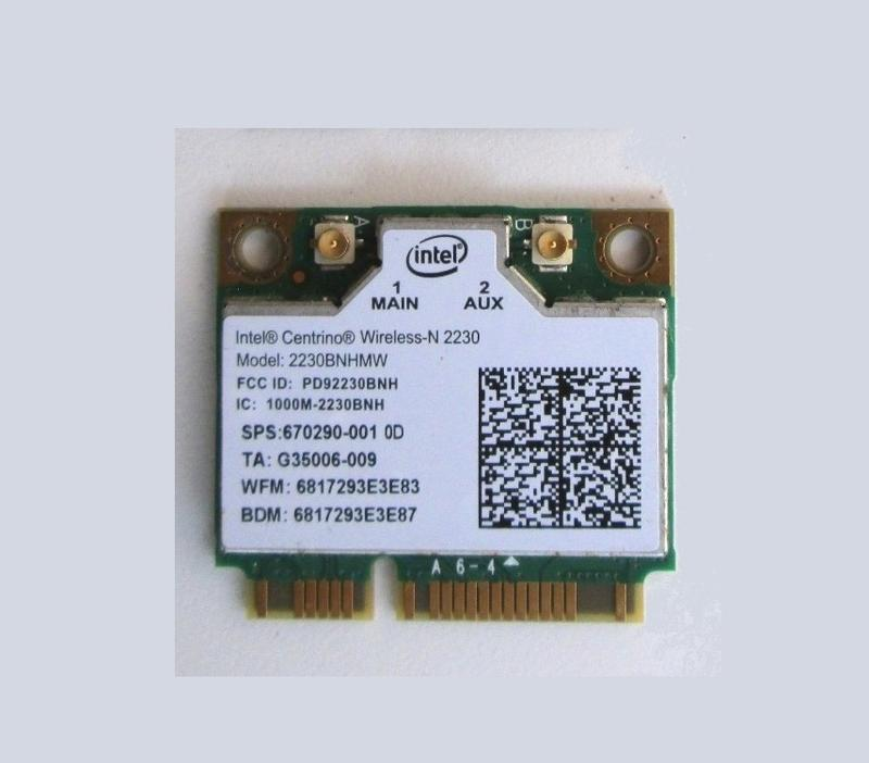 Wi-Fi модуль Half mini PCI-E Intel 2230BNHMW 300 Мбит/с +BT 4.0