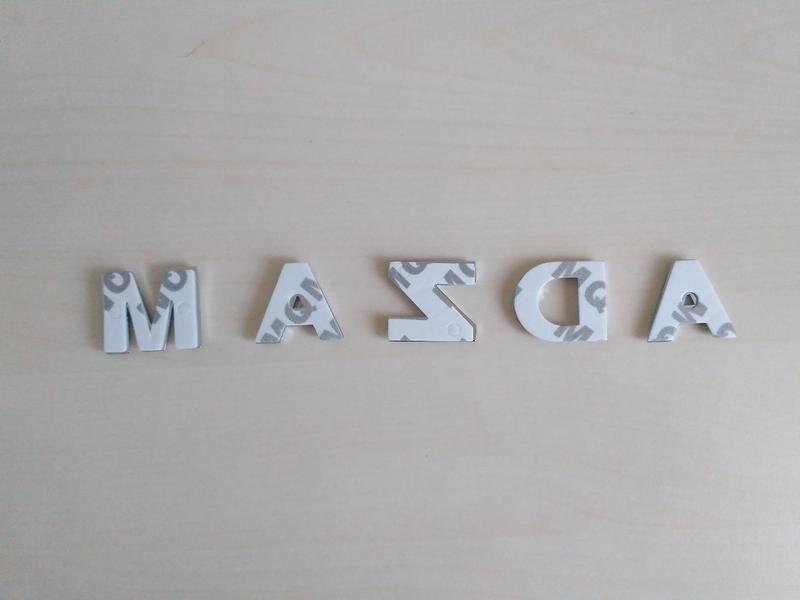 Металлические буквы Мазда Mazda на кузов авто - Фото 4