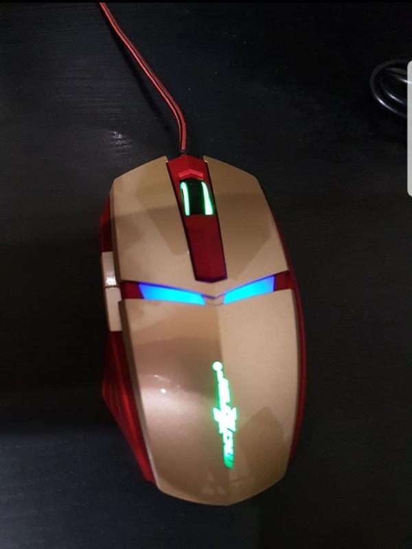 Игровая компьютерная мышка железный человек
