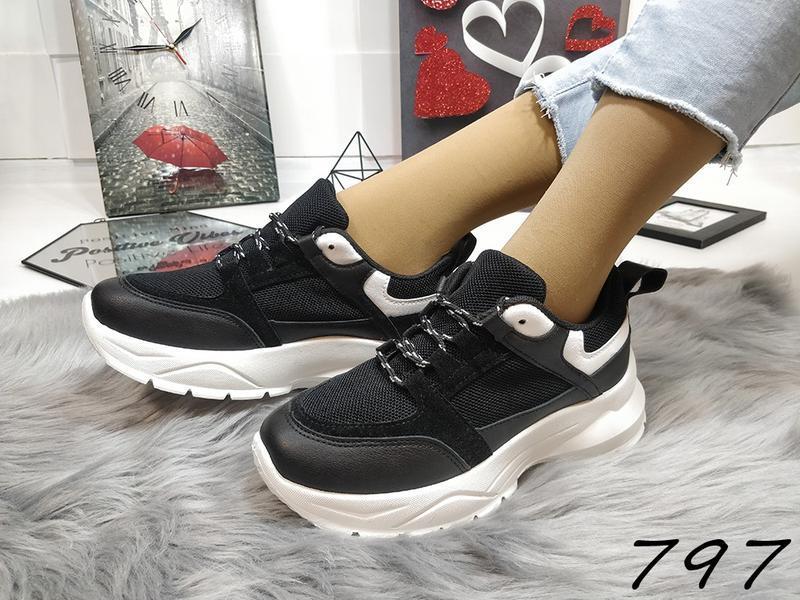 Распродажа черных кроссовочек