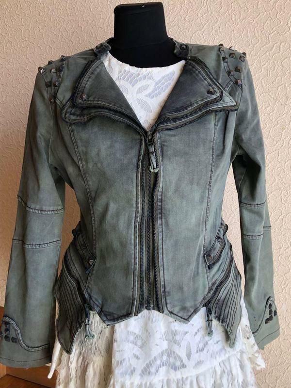 Курточка джинсова, косуха