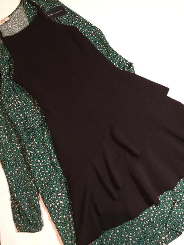 Платье на тонких бретельках с воланами new look размер 10