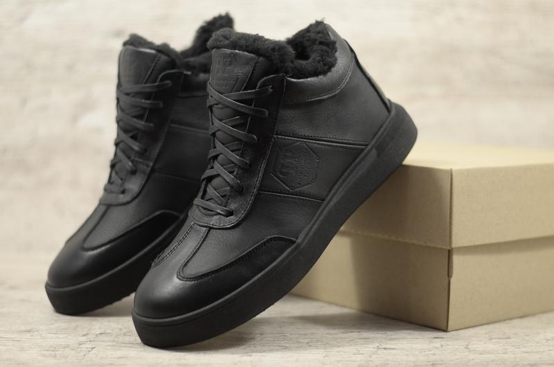 Натуральная кожа мужские зимние ботинки в спортивном стиле кед...