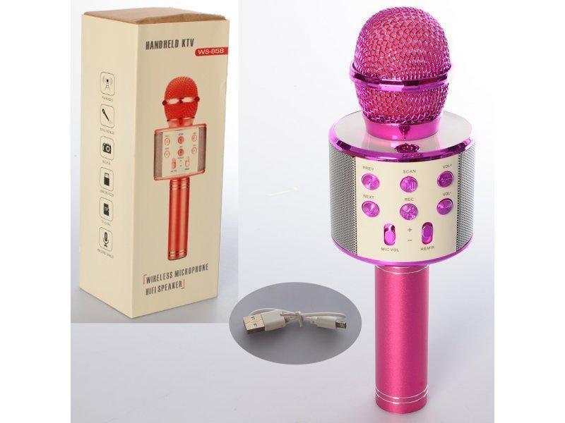Беспроводной микрофон для караоке Wster WS-858 - Фото 2