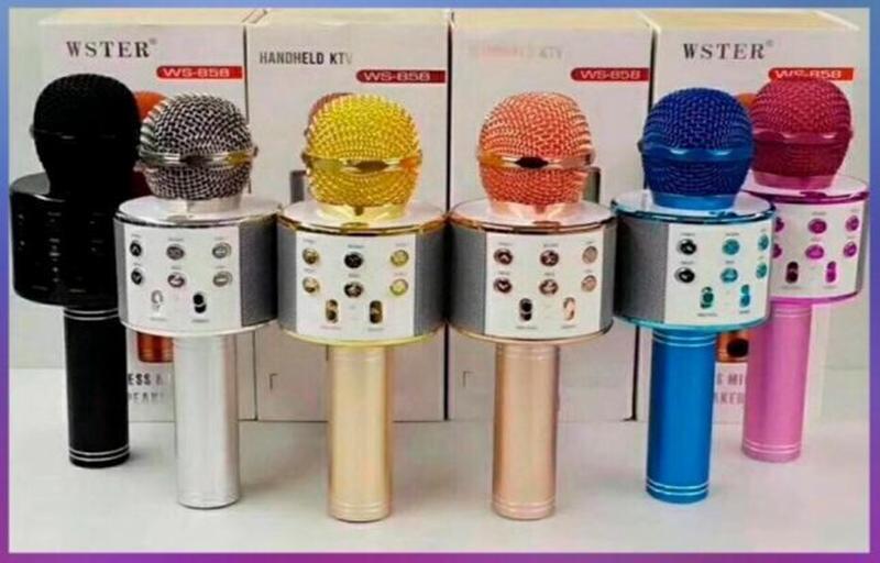 Беспроводной микрофон для караоке Wster WS-858 - Фото 6