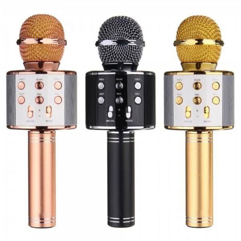Беспроводной микрофон для караоке Wster WS-858 - Фото 5