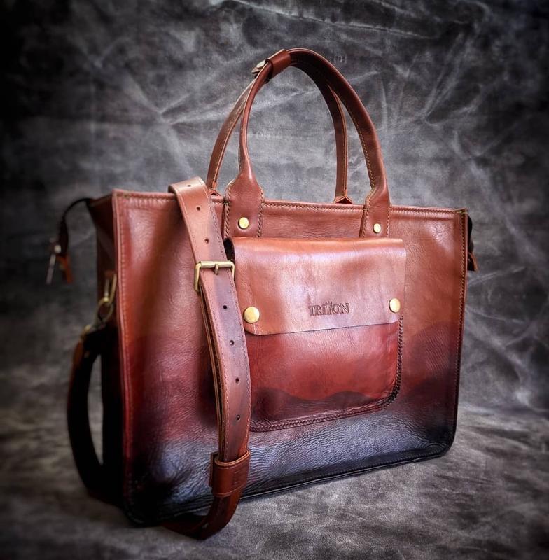 Кожаная сумка pallada ручная работа