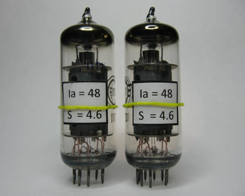 Измеренная и подобранная пара радиоламп 6П1П для Hi-Fi усилителей