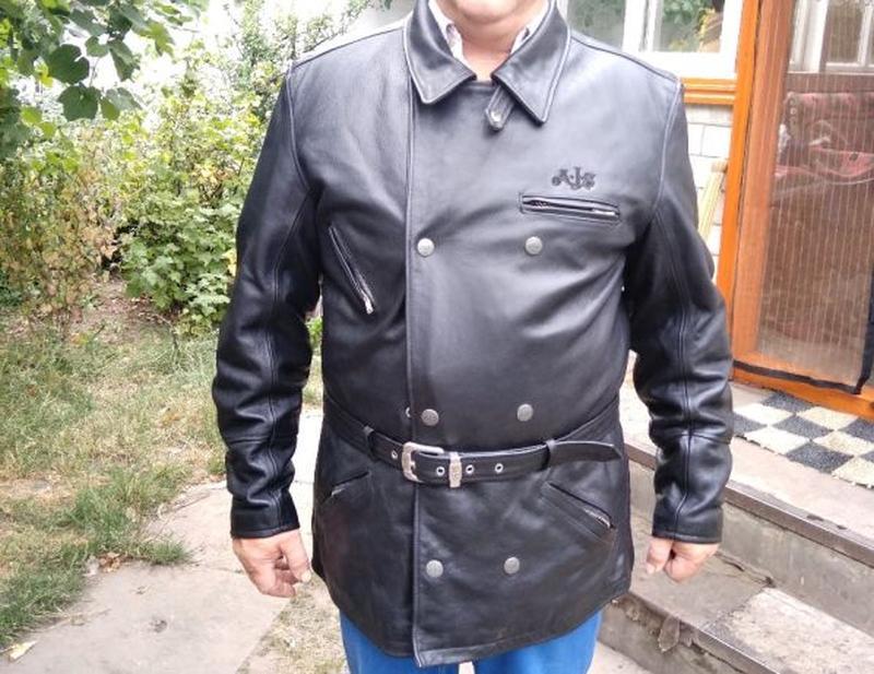 AJS Biker куртка кожаная размер 52-54 косуха мотокуртка байкер... - Фото 2