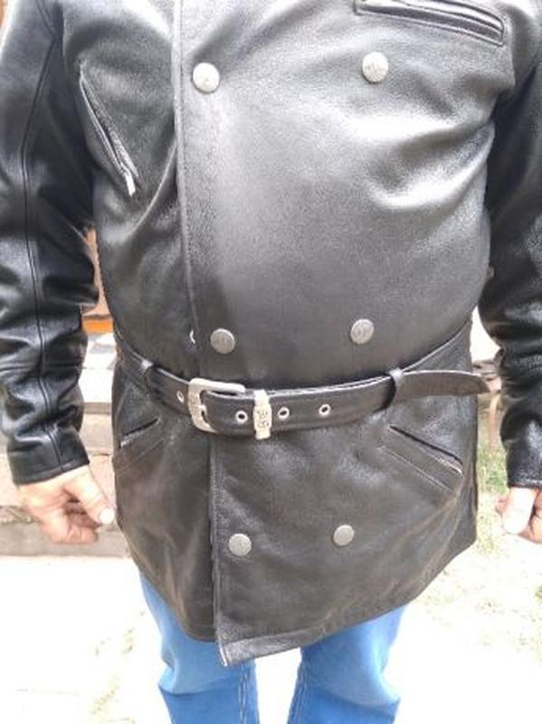AJS Biker куртка кожаная размер 52-54 косуха мотокуртка байкер... - Фото 4