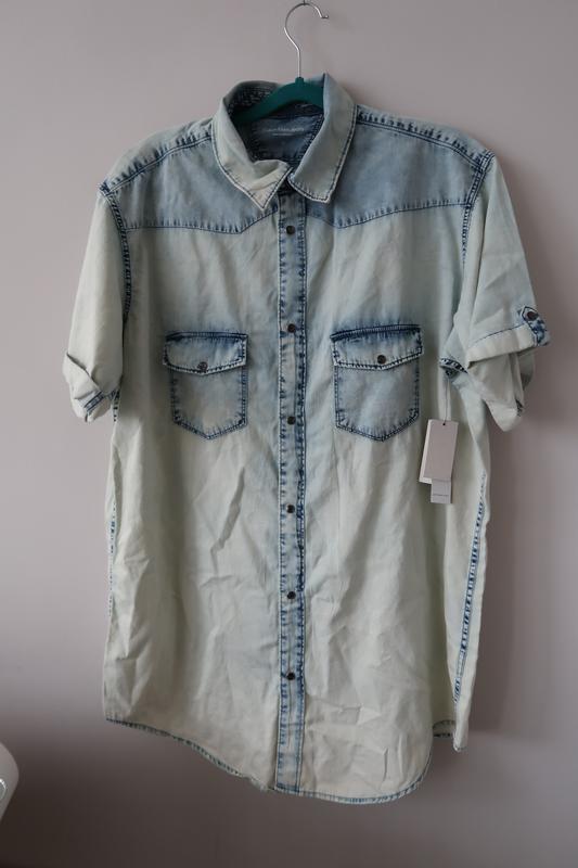 Рубашка большая варенка джинсовая мужская сорочка чоловіча джи...