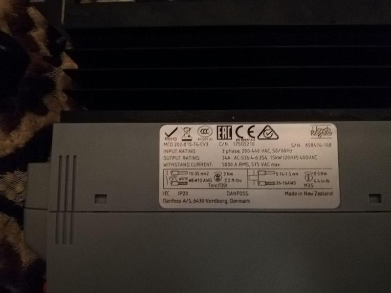 Софтстартер (устройсто плавного пуска) DANFOSS 15 kW МСD 202-015- - Фото 4