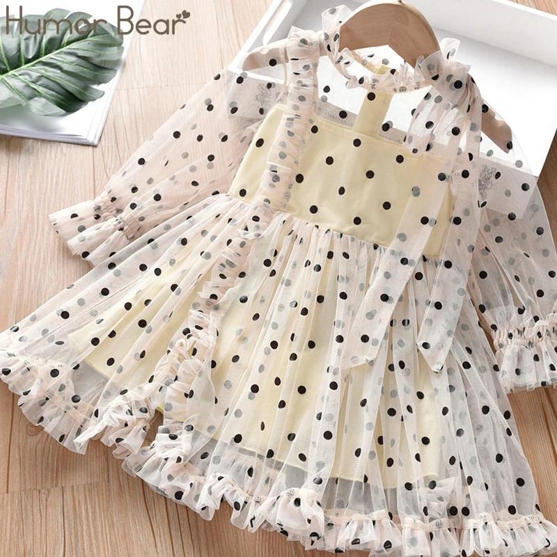 Нарядное детское платье в горох, на 1-5 года, новый