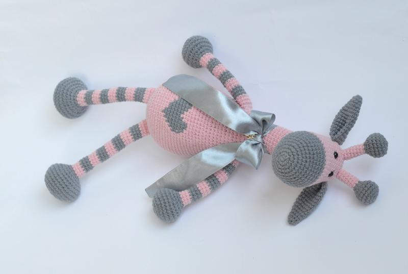 Жираф (игрушка вязаная крючком)