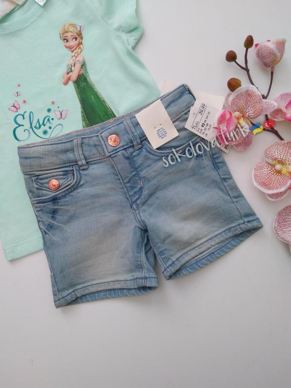 Джинсовые шорты хлопок джинсові шорти бавовна от h&m