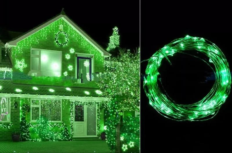 Провод с LED Лампочками - 10, 20 Шт. Гирлянда