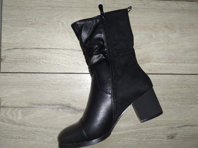 Зимние женские ботинки зима сапоги жіночі полуботинки - Фото 3