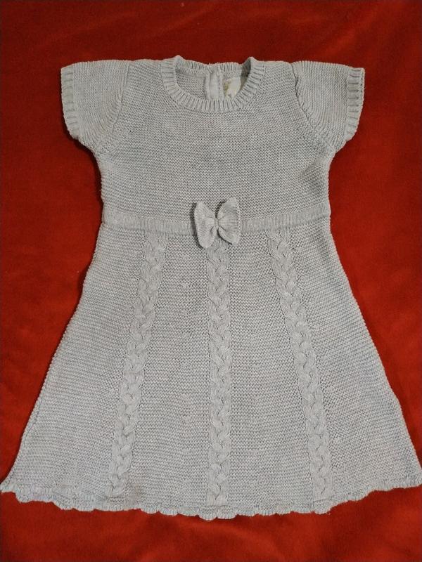 Теплое платье young dimension коттон