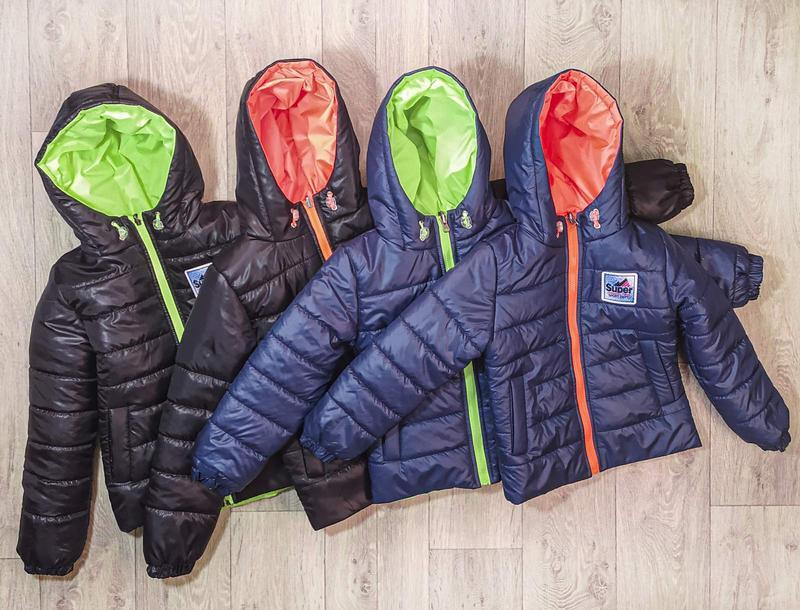 Детские и подростковые демисезонные двухсторонние куртки для м...