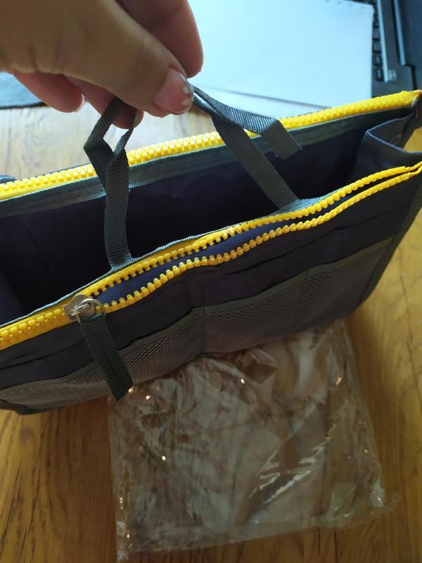 Косметичка органайзер для сумки bag in bag для косметики и акс... - Фото 3