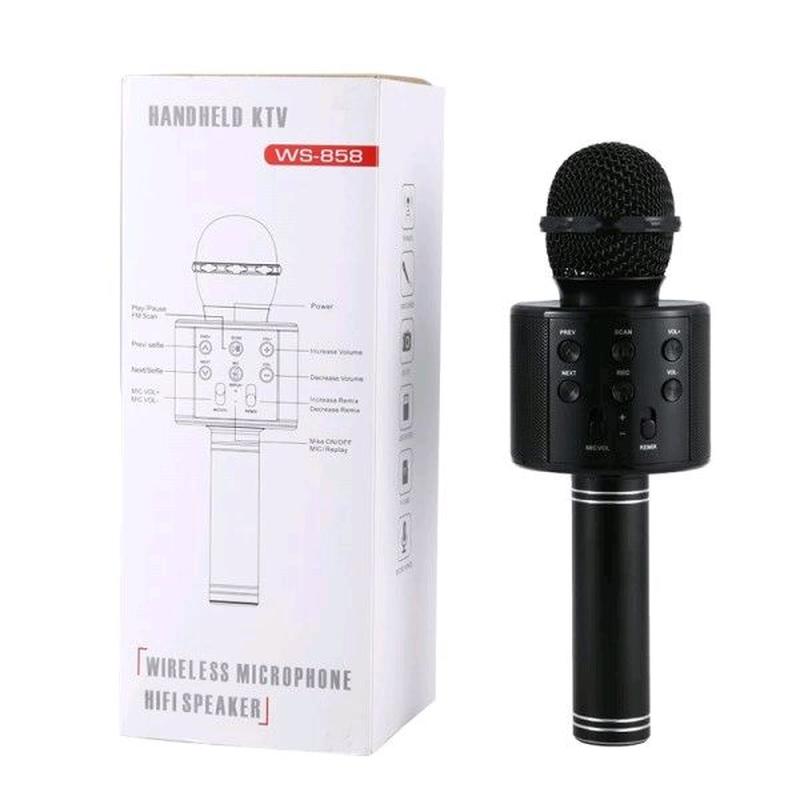 Беспроводной караоке микрофон WS-858Bluetooth с колонко - Фото 3