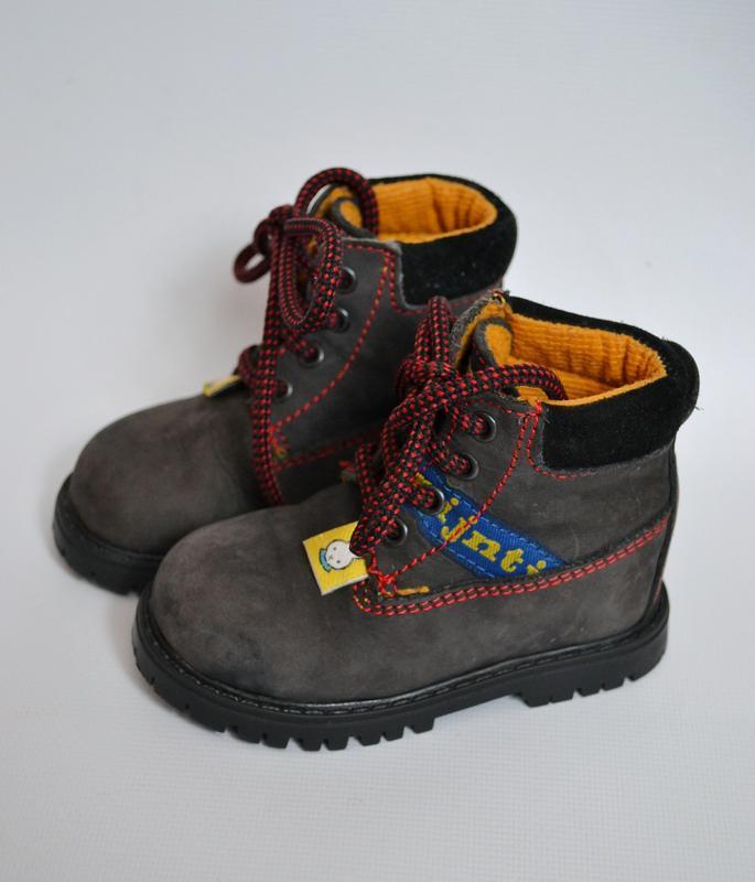 Ботинки nijnjtie 20размер кожаные 12.5см