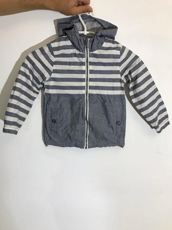 Детская полосатая куртка (ветровка) tu ( ту 4-5 лет 104-110 см...
