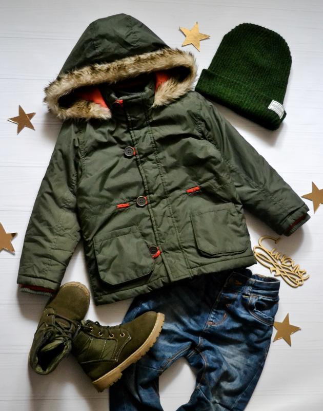Классная куртка хаки 1.5-2года tu