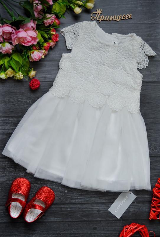 Очень красивое платье 9-12месяцев