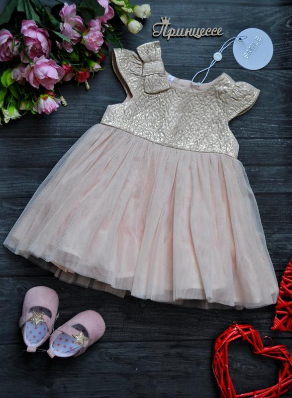 Офигенное нарядное платье 3-6месяцев