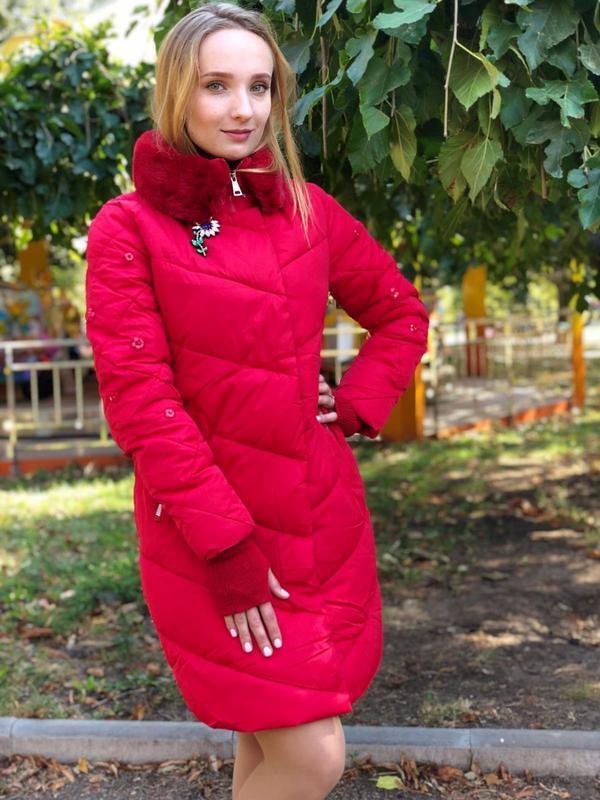 💣💣💣💣стильная красная зимняя куртка