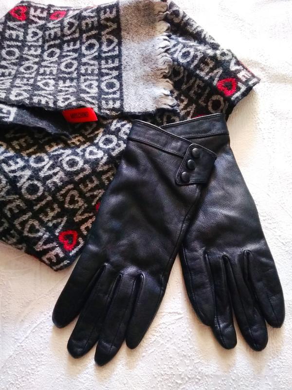 Перчатки кожа утеплённые на узкую ладошку