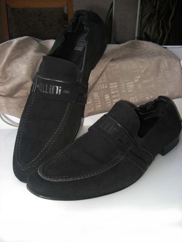 Fellini италия, мужские замшевые туфли fellini р. 43