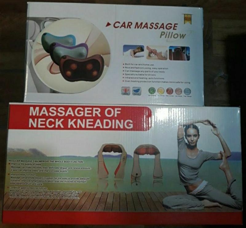 массажер для шеи, плеч и спины.массажная подушка Massager Pillow