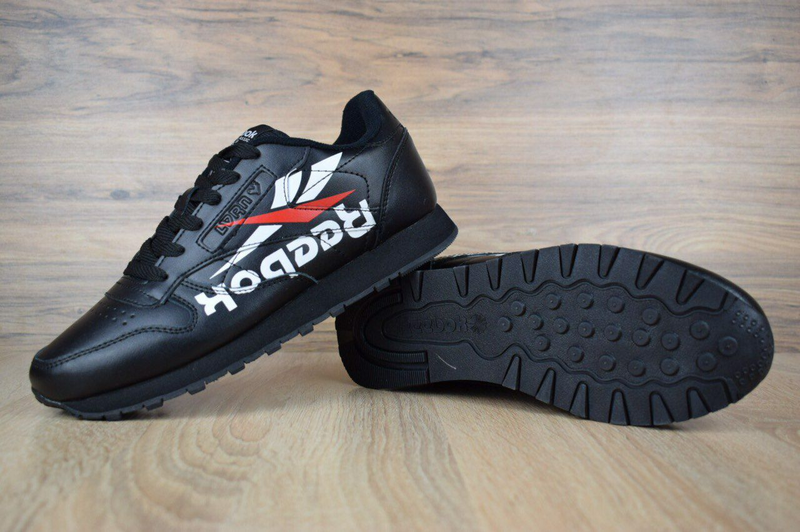 Кроссовки мужские  Reebok Classic черные - Фото 4