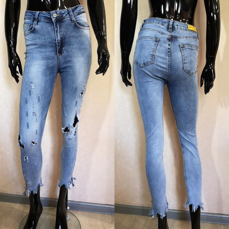 Летние джинсы высокая посадка рр 26-27