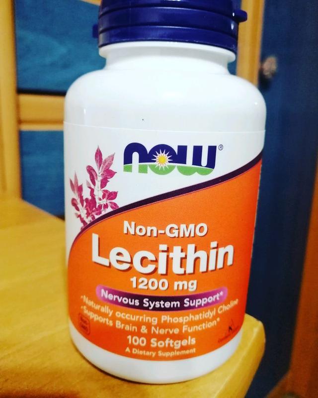 Now Foods, лецитин, 1200мг, 100капсул
